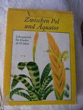 """DDR Lehrquartett """"Zwischen Pol und Äquator"""",vollständig Verlag Pößneck 1978, ASS"""