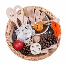 Toddler Sensory Treasure Basket - Montessori Educational Wooden Toy Gift EYFS