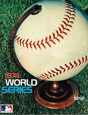 1974  WORLD SERIES  LOS ANGELES DODGERS   VS. OAKLAND A's  PROGRAM