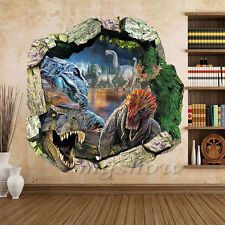 Dinosaur 3D Wall Sticker Decal Mural Decor Art Kids Room Removable Home Vinyl