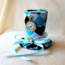 Alice In Wonderland V2 mini top hat facinator punk goth steam punk cameo watch
