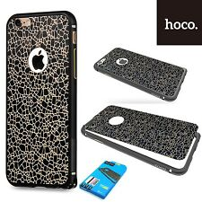 Hoco LAMA PARAURTI in Alluminio & Adesivo In Pelle Custodia Cover iPhone 6S Plus-Nero