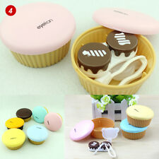 Travel Portable Cute Food Cake Contact Lens Container Carry Case Holder Box #4