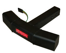 LED Step Bumper Guard Truck Hitch Receiver black  Rear Brake Turn Light Red 2""
