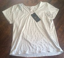 NWT Women's Grey ACTIVE LIFE Stretchy Athletic Workout Top Size 2XL XXL $48