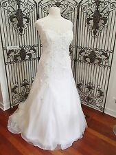 233 ALFRED ANGELO 955 IVORY SZ 22W IVORY $1677 FORMAL BEADED WEDDING GOWN DRESS