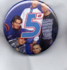 FIVE - BUTTON BADGE - 90s POP BAND  5IVE -  SLAM DUNK DA FUNK - INVINCIBLE