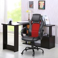 PU Leather Racing Gaming Chair Ergonomic Computer Desk Office Chair Black Red