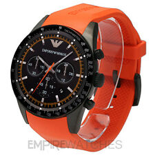 *NEW* MENS EMPORIO ARMANI SPORTIVO ORANGE RUBBER WATCH - AR5987 - RRP £329.00