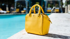 NWT  IN PLASTIC TORY BURCH  LEATHER ROBINSON MINI SATCHEL SUNSHINE YELLOW  $450