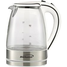 NEW Brentwood Kt-1900w Glass Electric Kettle, 1.7 Liter