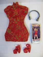 Red Mandarin Collar Dress Shoes Mini Spice Girls On Tour Geri Halliwell Ginger