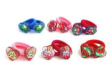 12Pcs New Set shopkins Hair Accessories Rope Band Elastic Bobble Tied Ring Gift