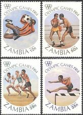 Zambia 1984 Olympic Games/Olympics/Sports/Football/Boxing/Running 4v set (s1795)