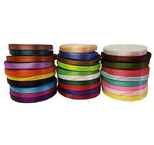 30 ROLLS SATIN RIBBON Solid Colour Ribbons Size 6mm Most Demanding Best Colors