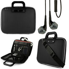 Black Shoulder Carrying Bag Case for HP EliteBook ProBook 15.6 In Laptop +Earbud