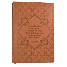 NWT Burnt Orange Immitation Leather I Know The Plans (Jeremiah 29:11) Journal