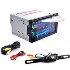 """Backup Camera+Double 2 Din 6.2"""" In Dash Stereo Car DVD CD Player Bluetooth Radio"""