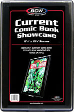 (5) BCW-CBS-CUR Current Modern Age Comic Book Showcase Show Case Display Frame