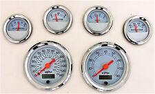 6 Gauge Set w/o Sensors/Senders Speedo, Tach, Fuel, Oil Psi, Water Temp, Volt