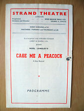 1948 Strand Threare Programme: GAGE ME A PEACOCK by Noel Langley