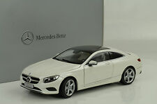 2014 Mercedes-Benz  S-Class  Klasse Coupe C217 diamond white 1:18 Norev Dealer