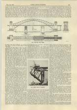 1915 Hell Gate Bridge New York Early Stage Of Erection