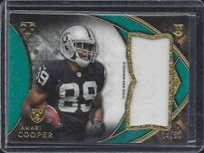 AMARI COOPER 2015 TOPPS TRIPLE THREADS GREEN RAIDERS ROOKIE JERSEY RC #D 14/50