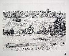 """L.A. Demangeon 1909/1979, Tres belle gravure """"Ronquerolles, les Ravins"""""""