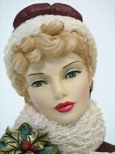 "Cameo Girls Head Vase Blyth 1875 ""Winter Beauty"" MIB FREE SHIPPING"