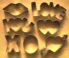 7 x Love hearts wedding valentine day baking cookie cutter stainless steel set
