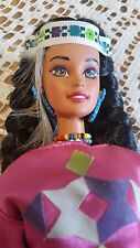 BARBIE DOLL BRUNETTE SPANISH TANNED TERESA NATIVE AMERICAN 1994 VINTAGE BEAUTY