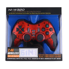 Dual USB 2.4G Wireless Game Controller Joystick Playstation for PS2 PS3