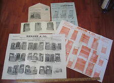 SUPER RARE Large Catalog LOT - Hersee Furniture Buffalo NY 1880s w orig envelope