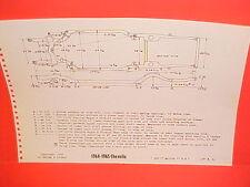 1964 1965 CHEVROLET CHEVELLE MALIBU CONVERTIBLE EL CAMINO FRAME DIMENSION CHART