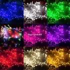 10M 100 LED Weihnachten Lichterkette Innen Außen Party Beleuchtung Dekodraht