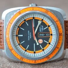 FAVRE LEUBA DEEP BLUE ORANGE BEZEL 500M 43MM DUOMATIC AQUA LUNG RARE TOOL DIVER