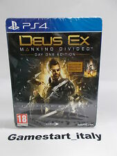 DEUS EX MANKIND DIVIDED DAY ONE STEELBOOK EDITION - SONY PS4 - NUOVO NEW