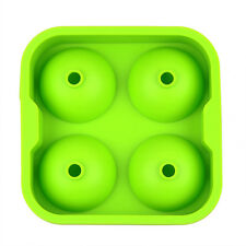 Silicone Spherical Round Ball Ice Cube Tray Maker Mold Bar Kitchen Green