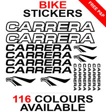 Carrera decals stickers sheet (cycling, mtb, bmx, road, bike) die-cut logo
