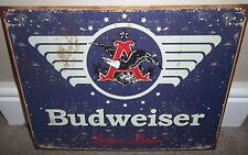 BUDWEISER/BUD  (1936 logo), METAL WALL SIGN 40X30CM, BEER/PUB/BAR/KITCHEN/SALOON