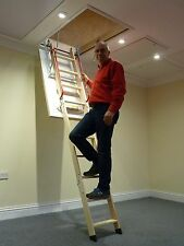 Deluxe Wooden Loft/Attic Ladder - Frame 1100mm x 545mm FREE Lifetime Guarantee!