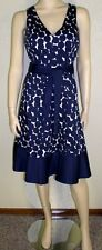 Nine West NWT Size 14 Multi Color Polka Dot Printed Sleeveless Dress 7098