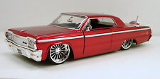 "Jada Bigtime Kustoms 1964 Chevrolet Impala 1:24 scale 9"" diecast model Red J30"