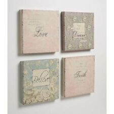 VINTAGE SHABBY STYLE CANVAS PICTURES X SET OF 4