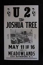 U2 1987 tour poster the Joshua Tree east Rutherford NJ