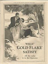 WILLS 'S GOLD FLAKE  CIGARETTE AD 1930