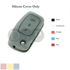 Silicone Cover fit for FORD Focus Mondeo Fiest Remote Key Fob Case 3 BTN 5CLR TR