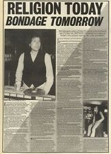6/8/83PN23 INTERVIEW: BOB DYLAN RELIGION TODAY BONDAGE TOMORROW