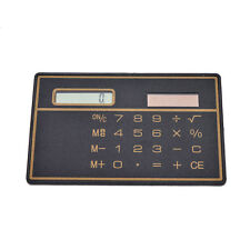 1x Mini Credit Card Solar Power Pocket Calculator Novelty Small Travel Compact